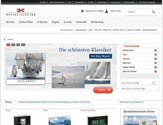 Main page screenshot of delius-klasing.de
