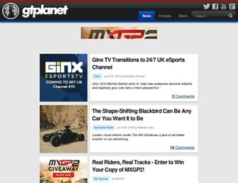 Main page screenshot of gtplanet.net