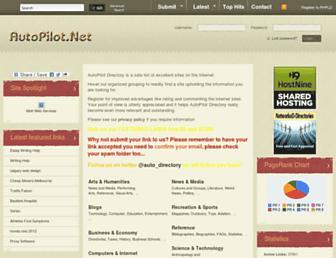Main page screenshot of autopilotdirectory.net