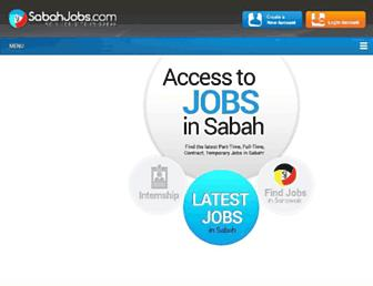 sabahjobs.com screenshot