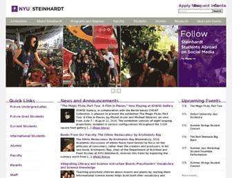 Main page screenshot of steinhardt.nyu.edu