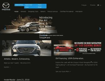 mazda.ca screenshot