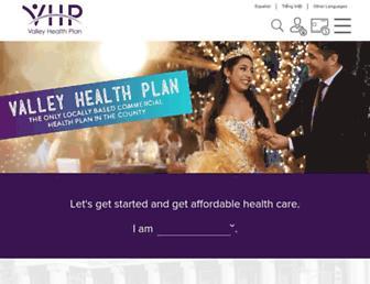 valleyhealthplan.org screenshot