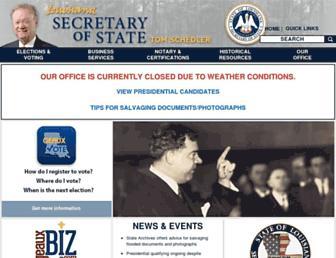 sos.la.gov screenshot