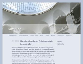 Main page screenshot of lawblog.de