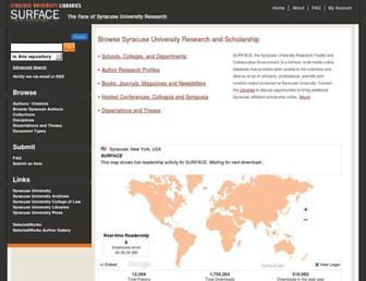 surface.syr.edu screenshot