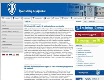 Main page screenshot of ir.is