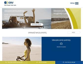 Main page screenshot of erv.pl