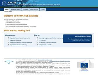mavise.obs.coe.int screenshot