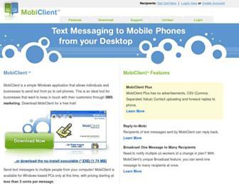 mobiclient.com screenshot