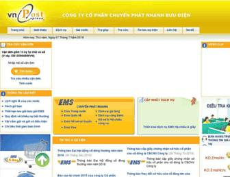 Main page screenshot of ems.com.vn