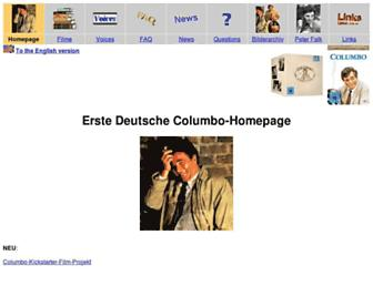 Main page screenshot of columbo-homepage.de
