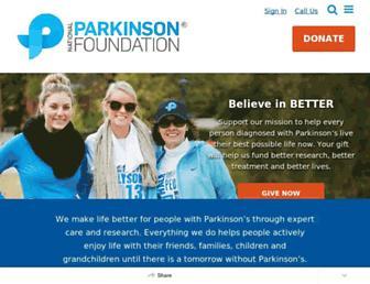 Screenshot for parkinson.org