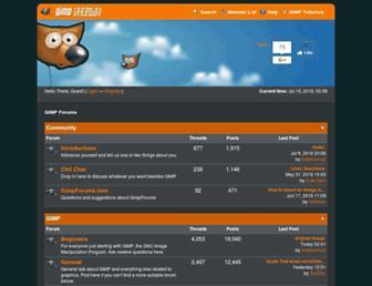 gimpforums.com screenshot