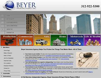 beyerinsurance.com screenshot