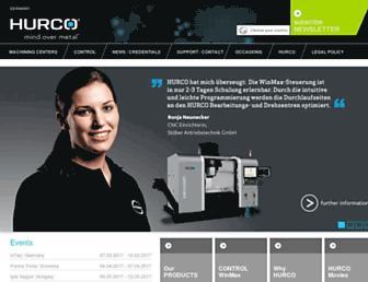 hurco.eu screenshot