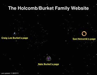 Main page screenshot of burket.net
