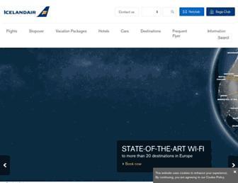 Main page screenshot of icelandair.us