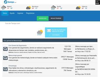 foro.tiempo.com screenshot