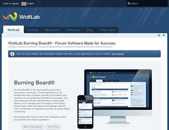 Main page screenshot of woltlab.info