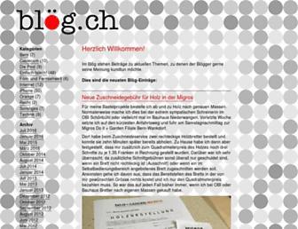 Main page screenshot of bloeg.ch