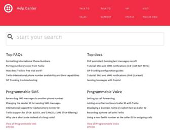 support.twilio.com screenshot