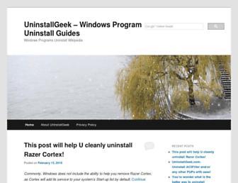 uninstallgeek.com screenshot