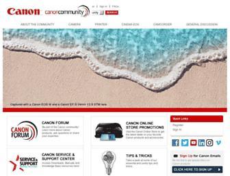 community.usa.canon.com screenshot