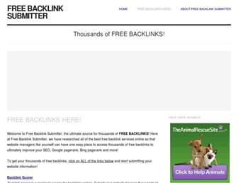 freebacklinksubmitter.com screenshot