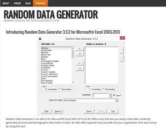 randomdatagenerator.net screenshot