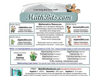 Thumbshot of Mathbits.com