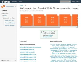 documentation.cpanel.net screenshot