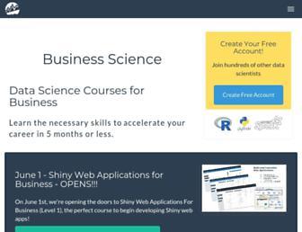 business-science.io screenshot