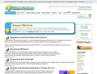 Main page screenshot of sciaga-online.pl