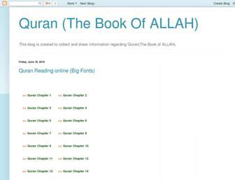 thebookofallah.blogspot.com screenshot