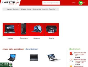 Main page screenshot of laptopplus.nl
