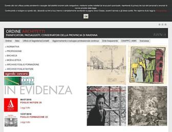 Main page screenshot of architettiravenna.it