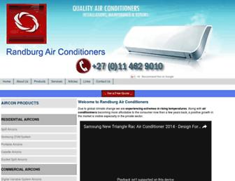 randburg-airconditioners.co.za screenshot