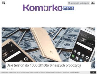 Main page screenshot of komorkomania.pl