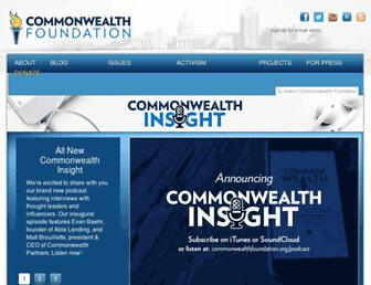 Main page screenshot of commonwealthfoundation.org