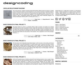 Main page screenshot of designcoding.net