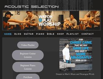 acousticselection.com screenshot