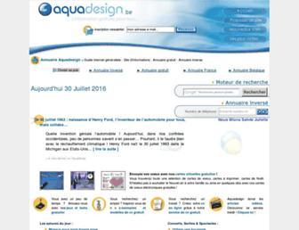 Main page screenshot of aquadesign.be