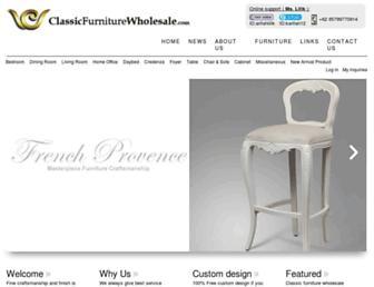 classicfurniturewholesale.com screenshot