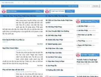 thuvienhoasen.org screenshot