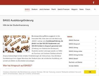 Main page screenshot of bafoeg-aktuell.de