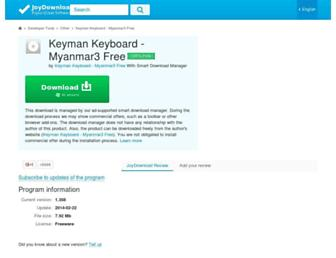 keyman-keyboard-myanmar3.joydownload.com screenshot