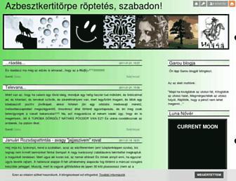 Main page screenshot of garou.blog.hu