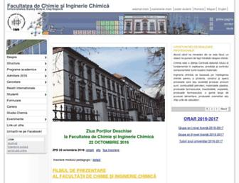 chem.ubbcluj.ro screenshot