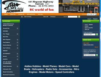 addieshobby.com.au screenshot